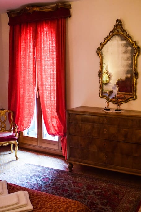 Living room with ancient baroque furniture