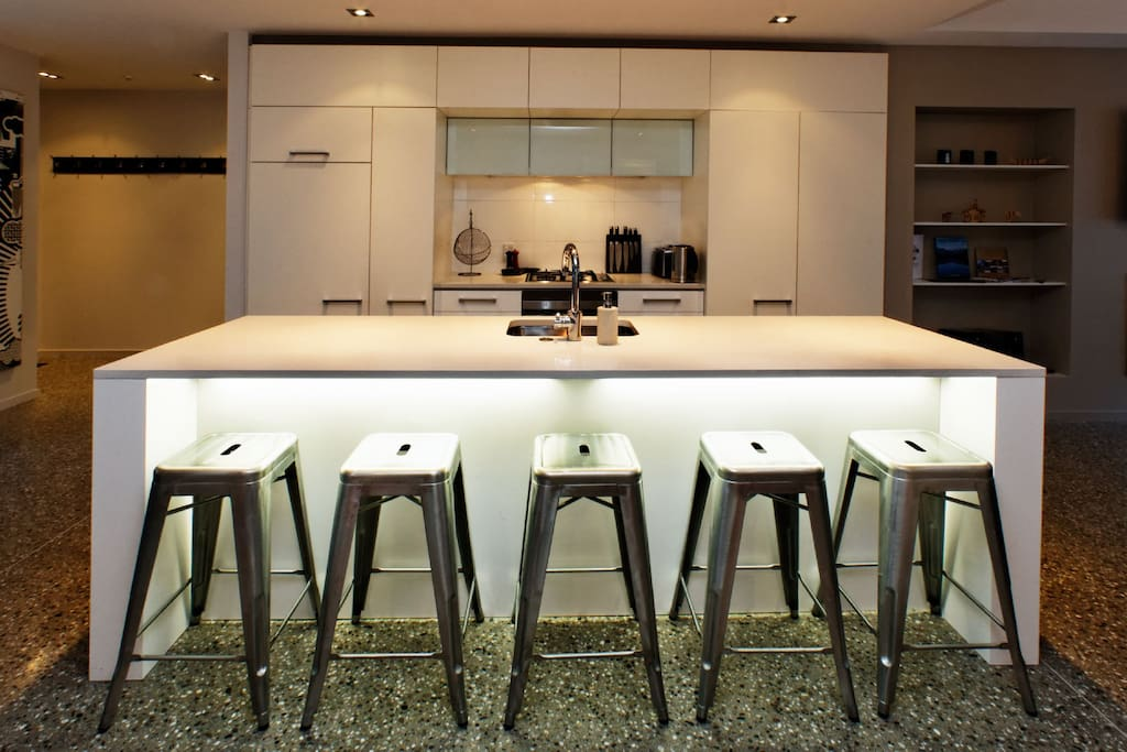 Integrated spacious kitchen