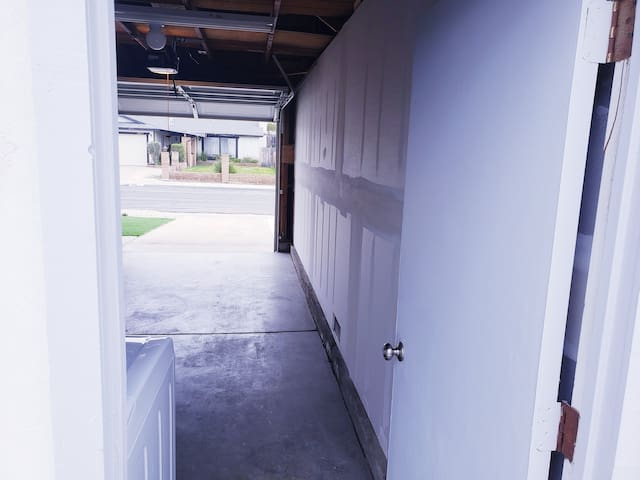 Pull your vehicle into the single car garage or leave it parked in the driveway
