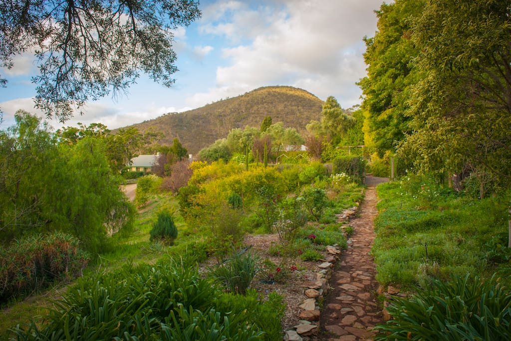 The Far garden, one of the many garden paths around the country garden property.