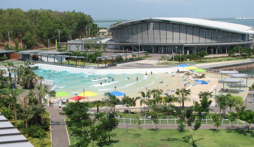 Easy walking access to Darwin's Wave Pool