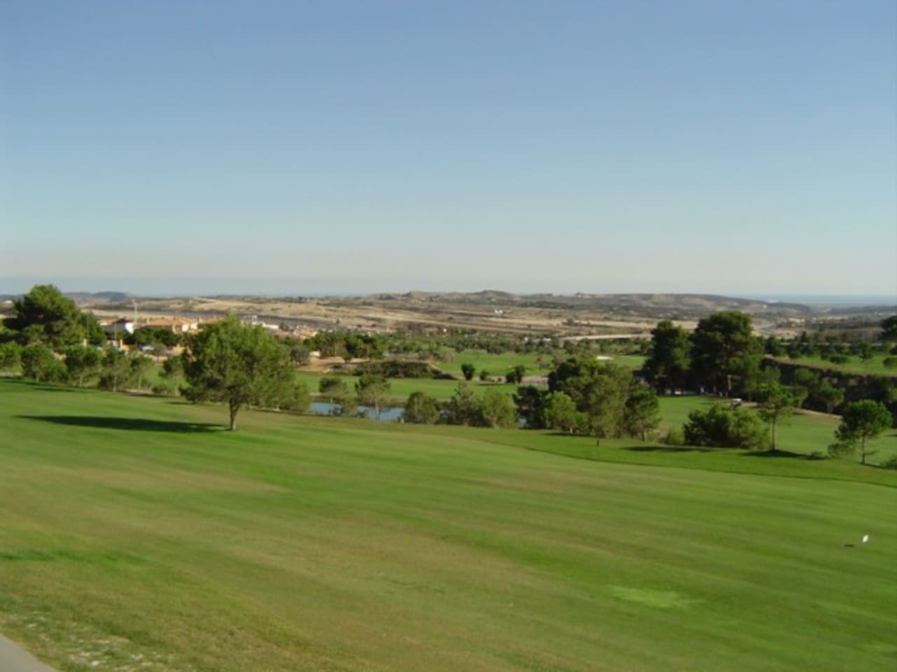 View across the golf course