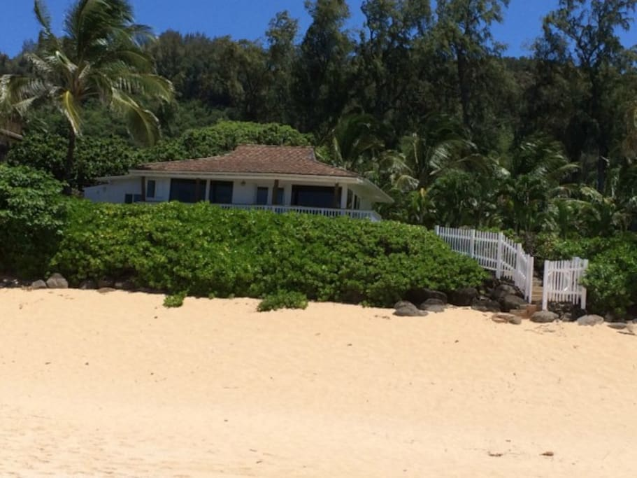 beach view of the home