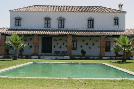 Cortijo de Gonzalo. Jardin piscina - Coria del Río - Villa
