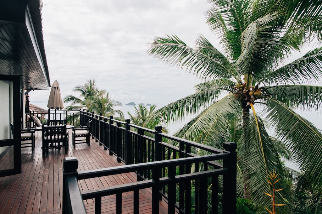 View from balcony overlooking Gulf of Thailand