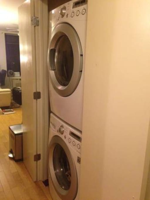 washer and dryer in the apartment!