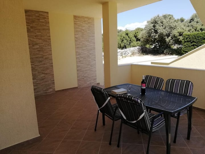 Two bedroom apartment with terrace and sea view Mandre, Pag (A-12409-c)