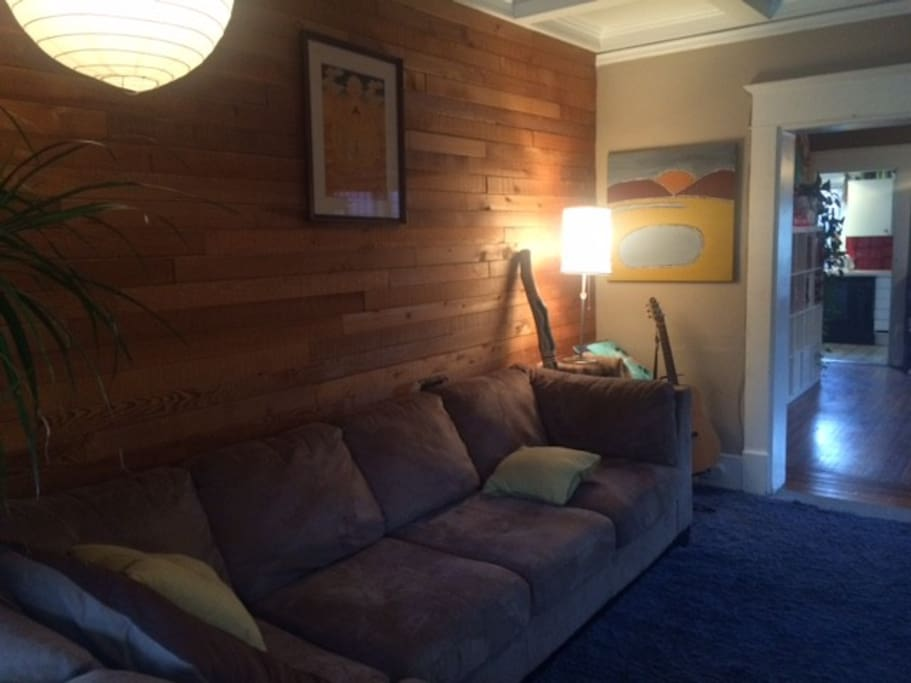 Comfy large couch in living room
