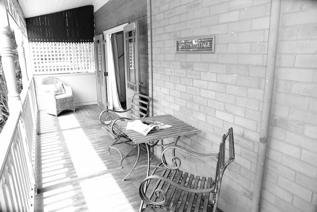 Relax over morning tea or afternoon beverage on our heritage verandah