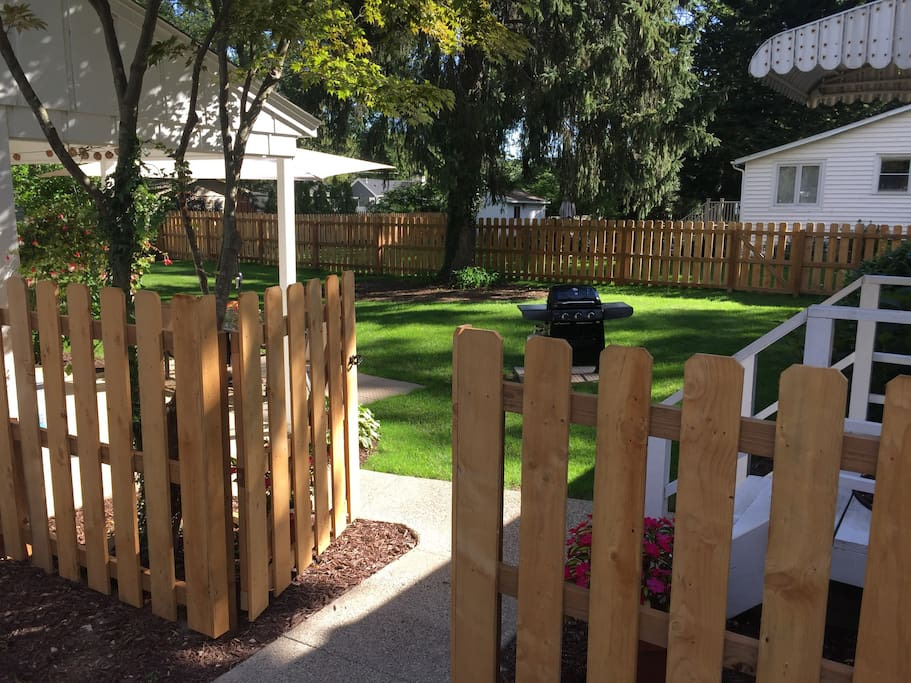 Fenced in rear yard perfect for kids and pets