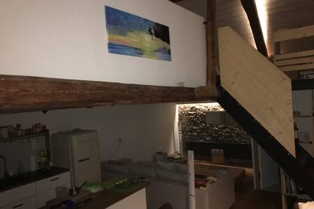 Chalet/Loft - ambiance chaleureuse ancien/moderne - La Brillaz - Çatı Katı