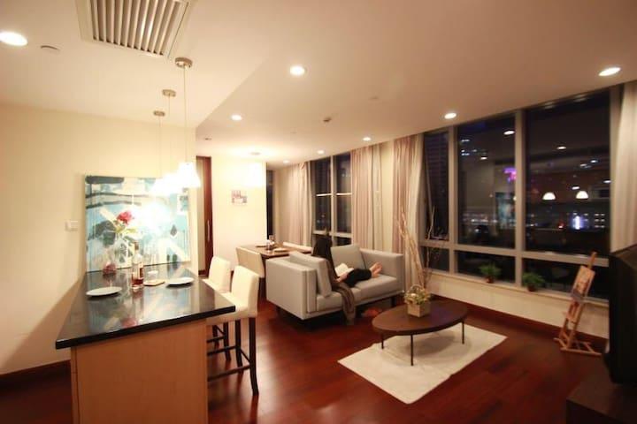 人民广场景观房 靠近地铁1.2.812号线,交通便利 2天起租 - Shanghai - Lägenhet
