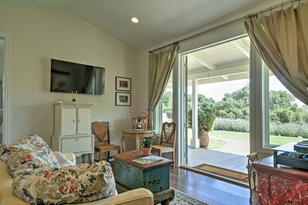 'Lavender Cottage' is in the heart of the Santa Ynez wine country and offers a soothing serenade for visitors who want to slow down and enjoy bountiful country life!
