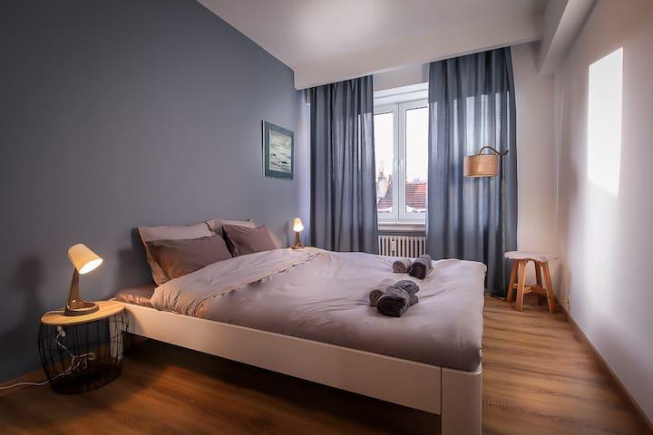 Comfortable 1-bedroom apartment (EU/city center)