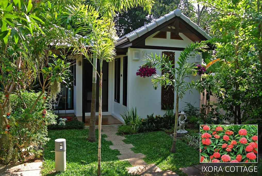 Ixora cottage in private estate
