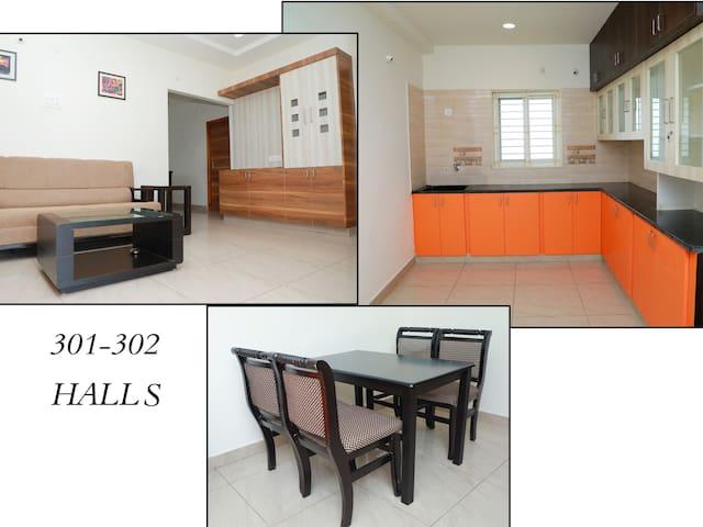 Vaibhava Service Apartments 3A-2BHK, A/c, Tirupati