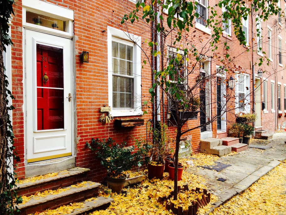 311 Kater is located on a quiet, beautiful historic cobble stone, tree-lined street in the heart of Queen Village, just a block away from all the excitement of South Street's restaurants and bars, and just a 15 minute walk from all the historic points of