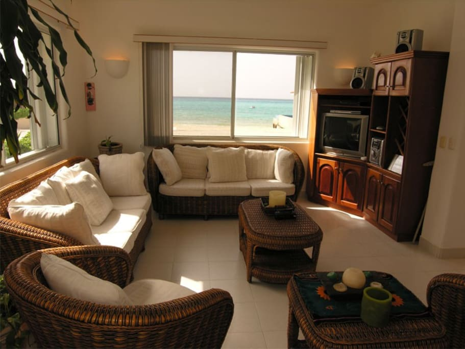 Beach view from the living area!!
