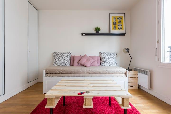 Charmant Studio Standing + Parking - Issy-les-Moulineaux - Apartament