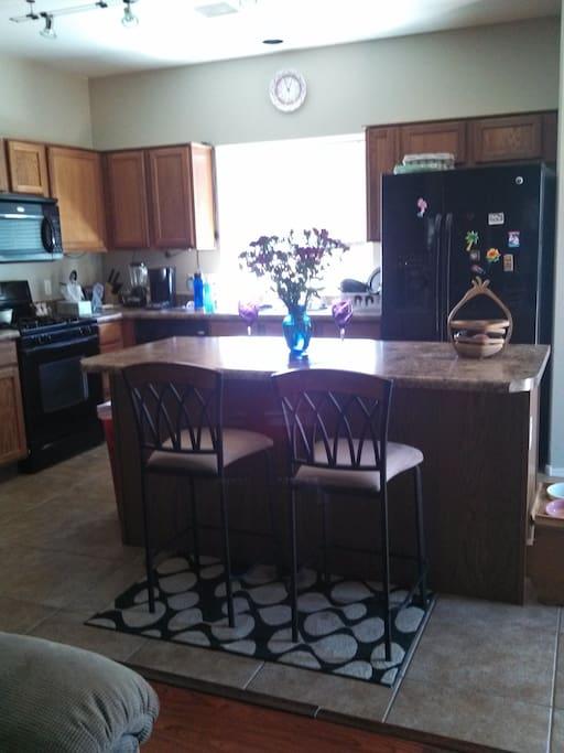 Spacious kitchen.