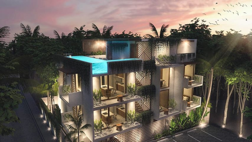 🥇Penthouse. Infinity rooftop pool. Near beach&city