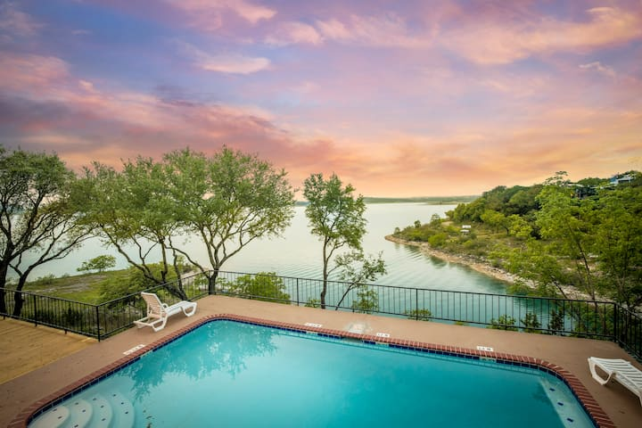 Serenity Point- waterfront Canyon Lake home with swimming pool!