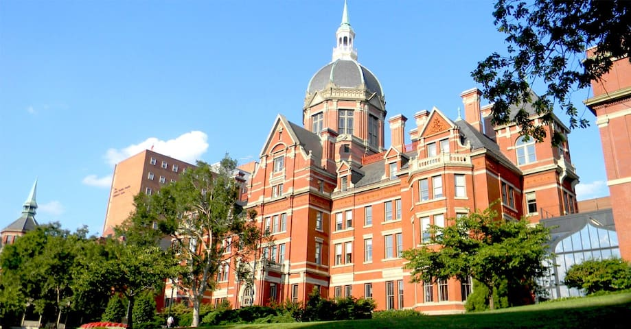Johns Hopkins University:  Johns Hopkins, founded in 1876, is America's first research university and home to nine world-class academic divisions working together as one university.  1 Mi, 4 Min Drive