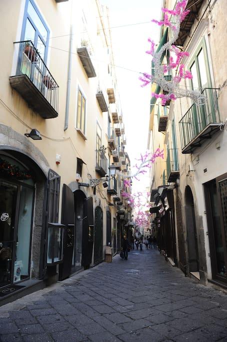 Posizionamento dell'appartamento nel cuore del centro storico e delle luci d'artista
