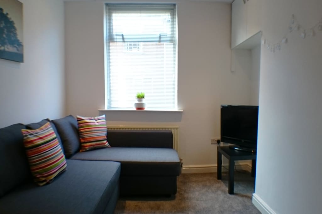 Sofa bed included! Iplayer/more4/etc available :)
