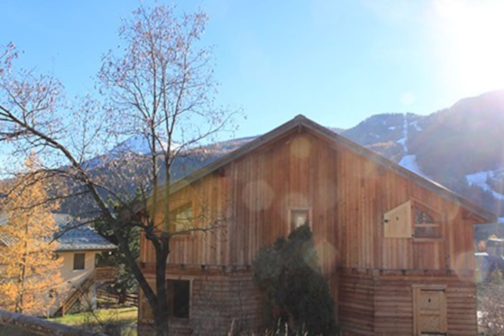 Back of the chalet (in spring)
