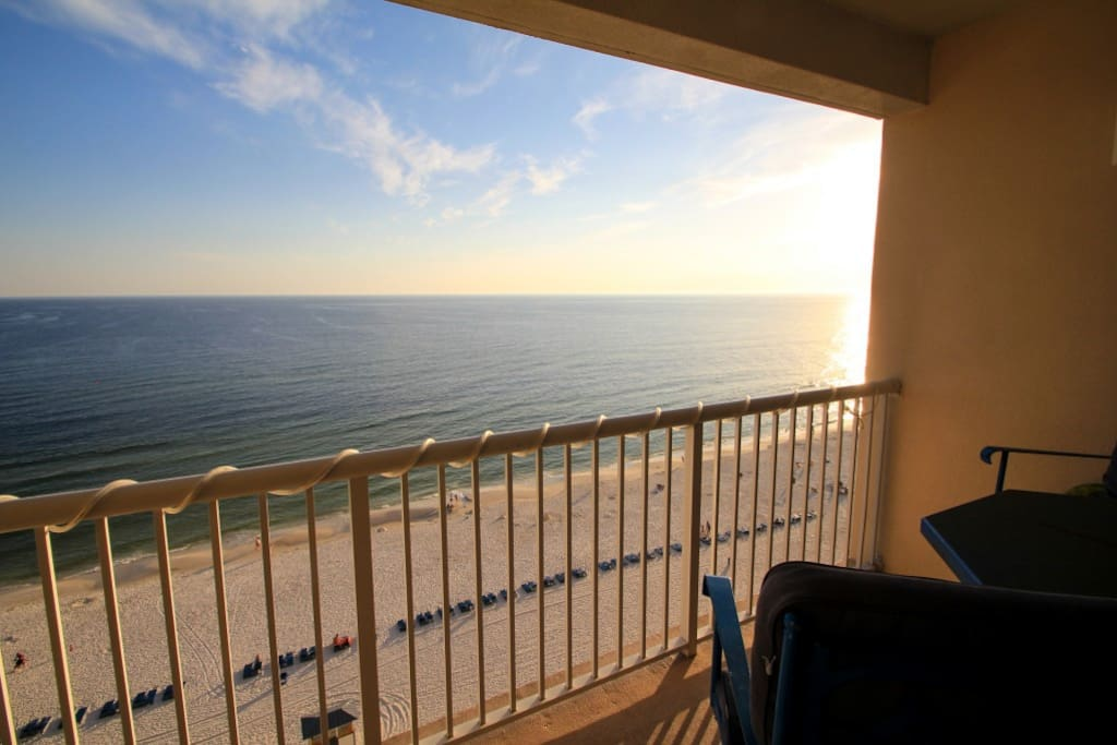 Private balcony with awesome Gulf and Beach views