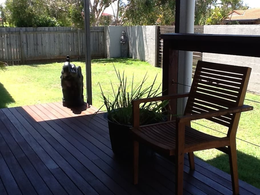 Rear deck to relax after the beach