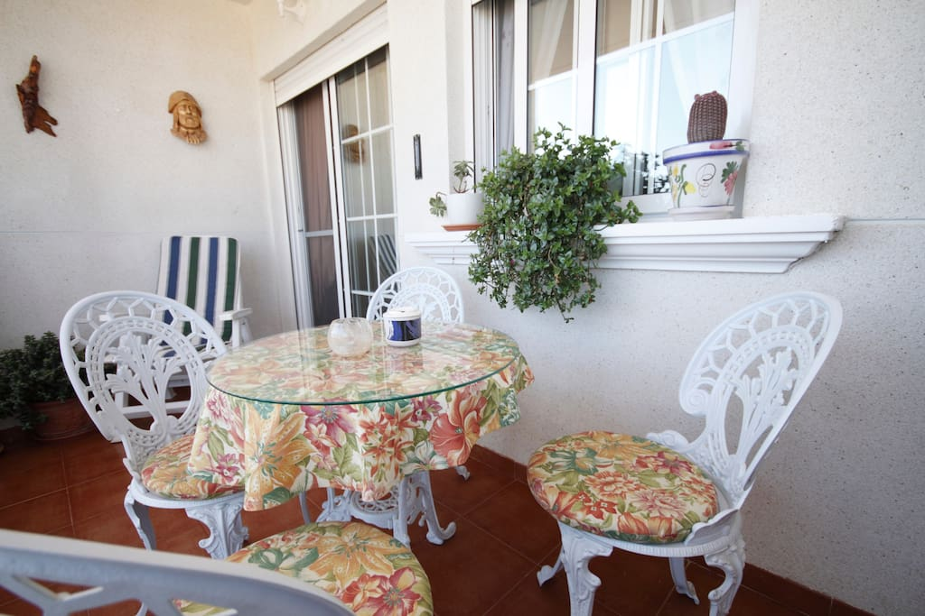 Balcony areas: features a selection plants, stunning unimpeded views of the sea and salt lagoons, table and chairs perfect for Al Fresco dining.