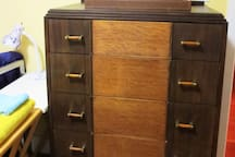 beautiful vintage pieces I have collected are placed in various rooms.