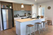 Fully equipped kitchen including Nespresso, thermomix, microwave and dishwasher.