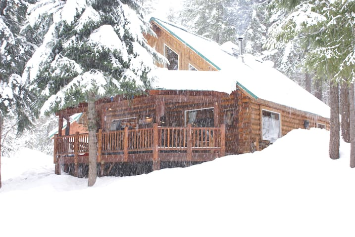 winter at Biggame Cabin