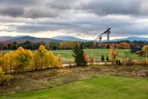 Olympic Ski Jumps from meadow