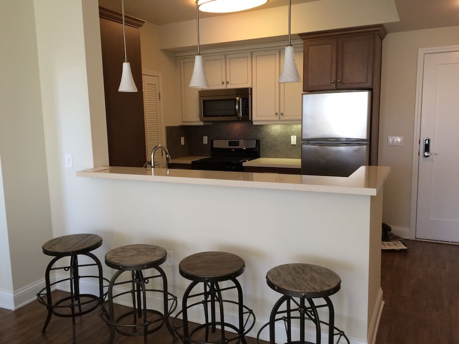Dinning counter and kitchen
