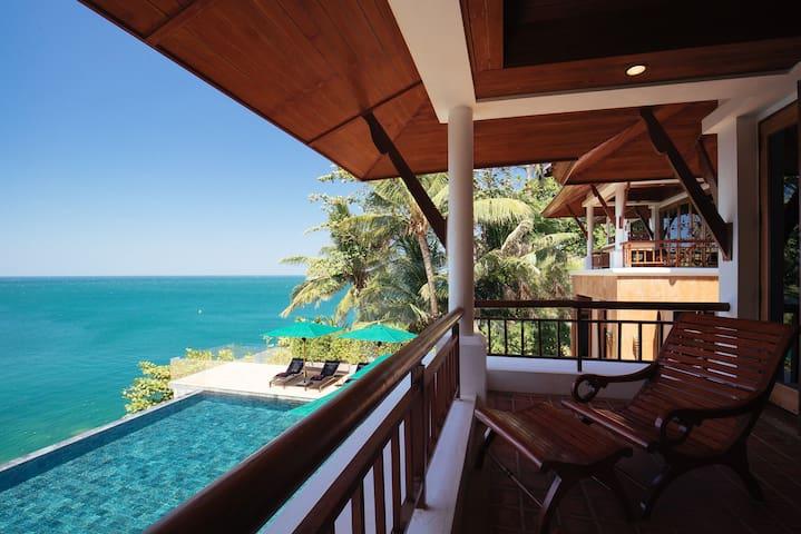 Villa Sunyata - Pool & Sea Views from the Master Bedroom Terrace (Bedroom #1)