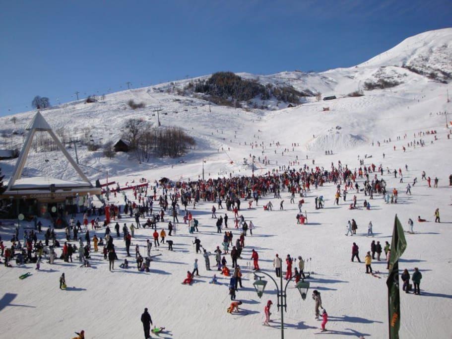 départ des cours de ski