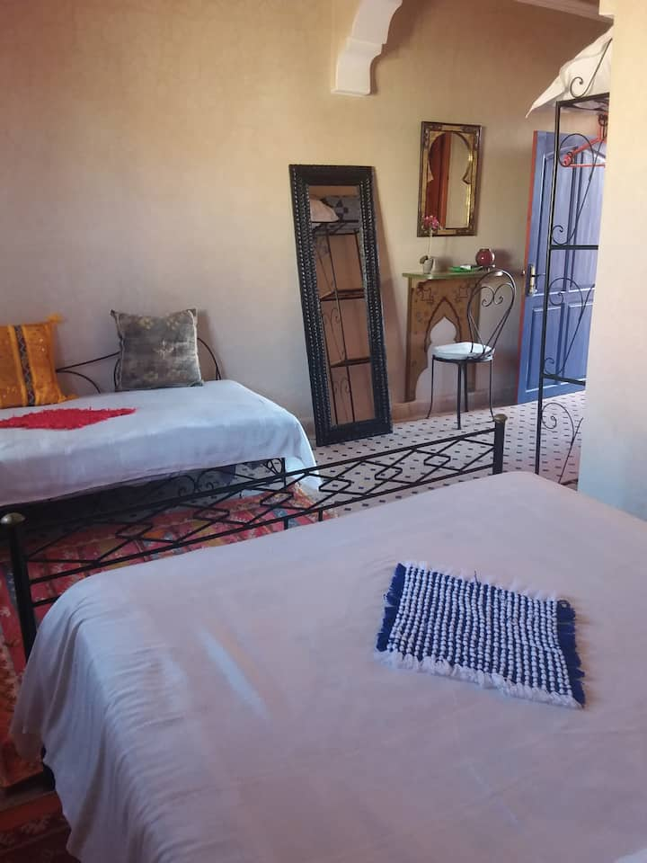 Riad Maison du Soleil - Chambre MEDINA 2 ou 3 per