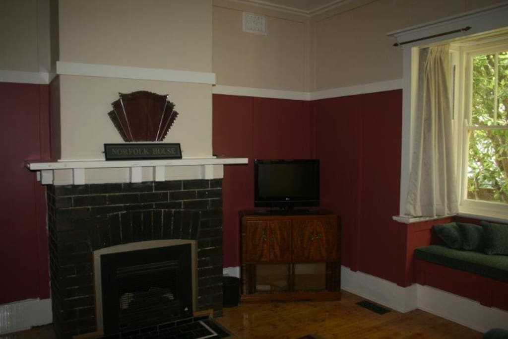 Cosy sitting room with gas heater