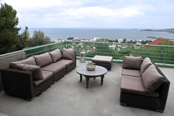 Aegean View-Traditional Villa-Quiet with garden