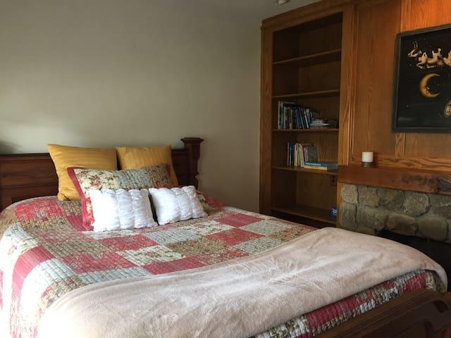 Bedroom 1 downstairs with Queen bed.