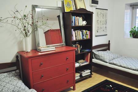 The book room w/private bathroom - Prague - Maison