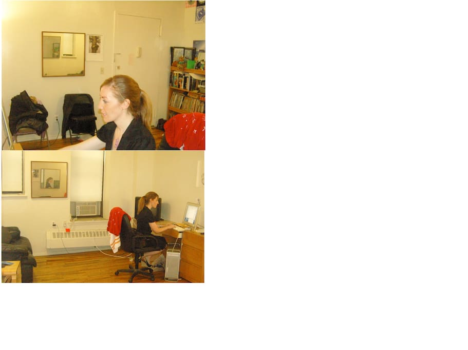 These pics show the entrance to my apt./ front & back of my livingroom. There's a table with the chairs now
