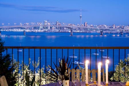 Cliff top Master Guest with stunning harbour views - Auckland - Dom