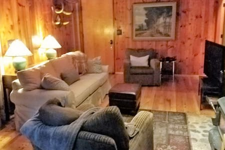 Rustic,Cozy,Quiet, dogs ok,fireplace 7 min off 80