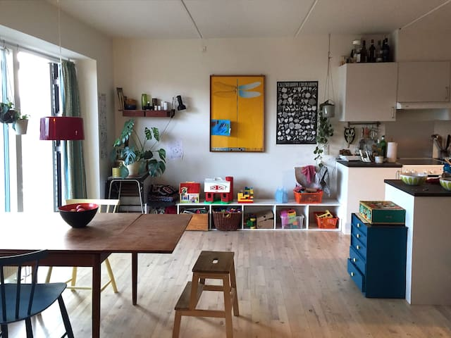 Family-friendly apartement between city and beach