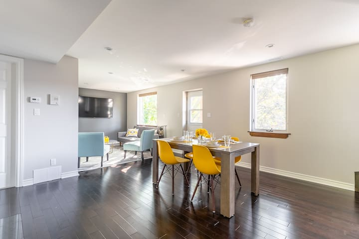 A bright home with lots of natural light - hardwood floors throughout